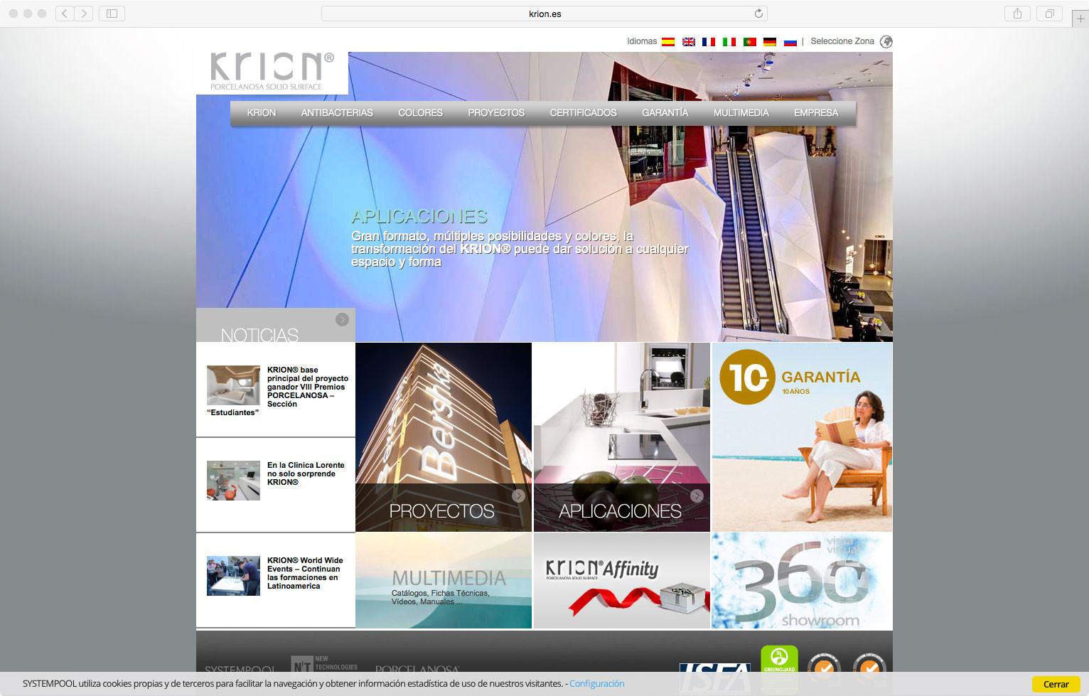 wellaggio diseño web valencia Aplicación Krion Affinity