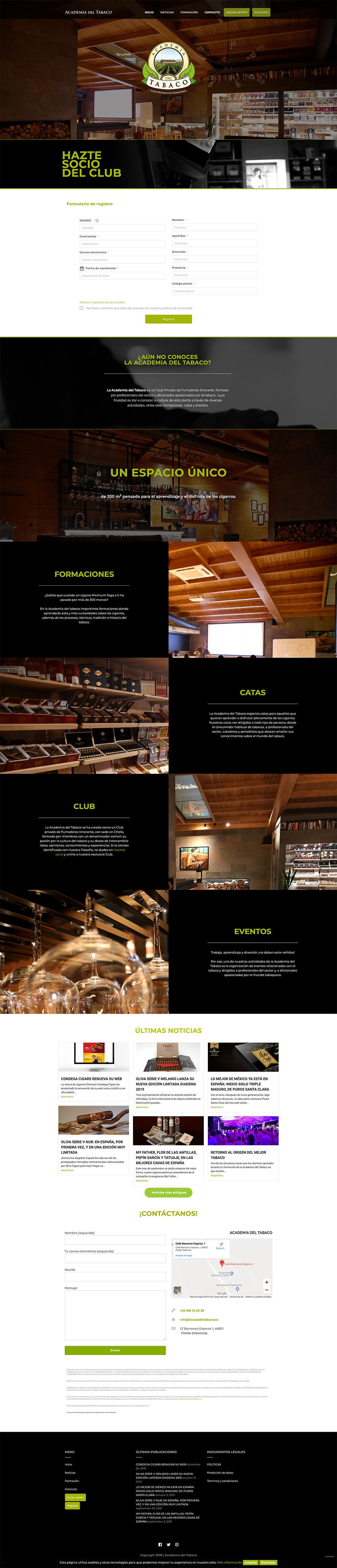 Diseño web Valencia | Diseño página web Academia del tabaco