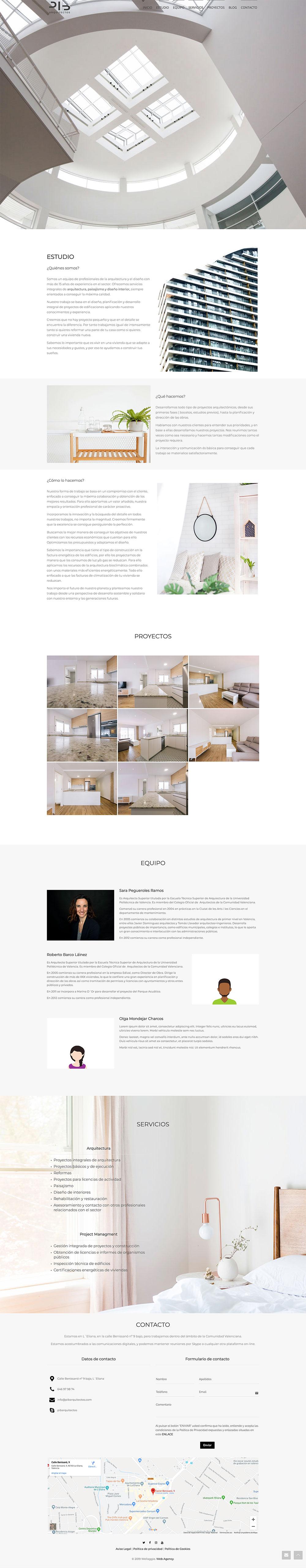 Diseño web Valencia | Diseño página web de PIB Arquitectos