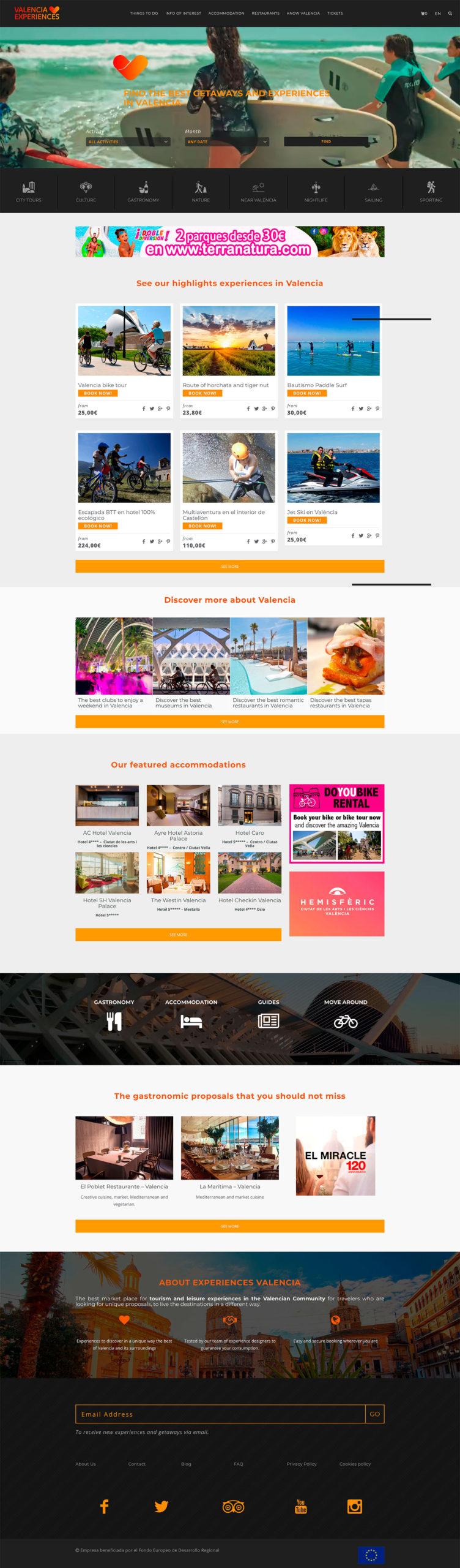 Diseño web Valencia   Diseño página web Experiences Valencia