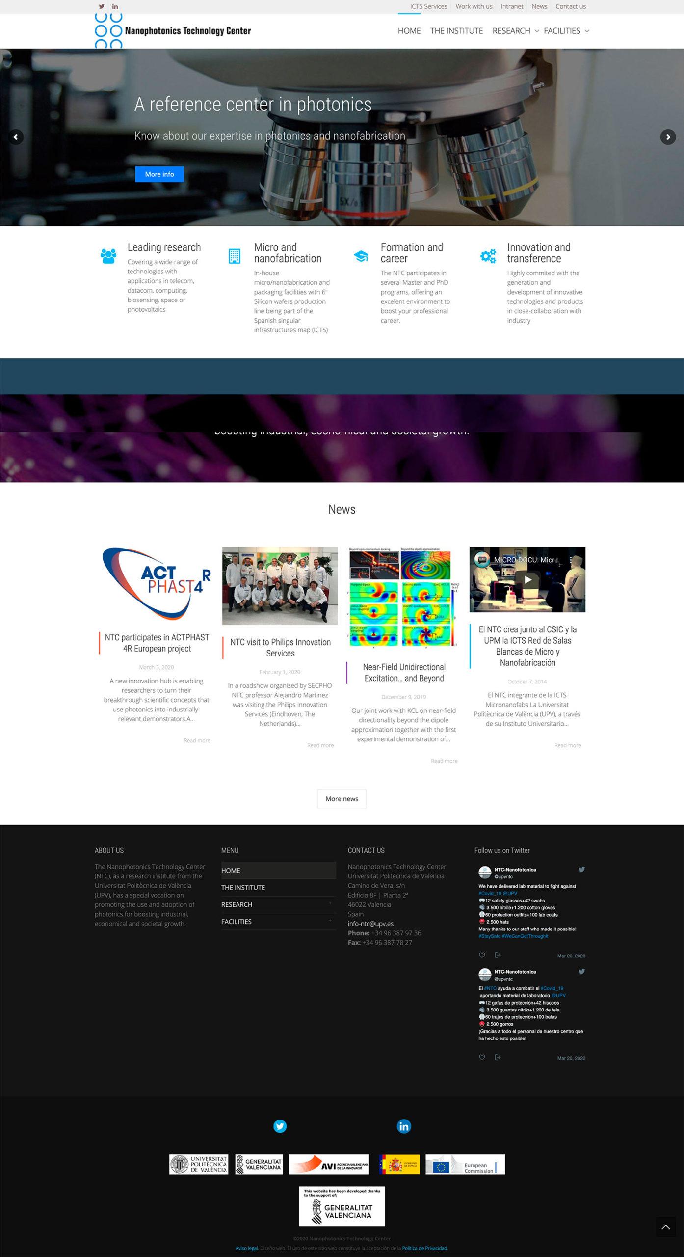 Diseño web Valencia | Diseño página web Instituto Nanofotónica UPV
