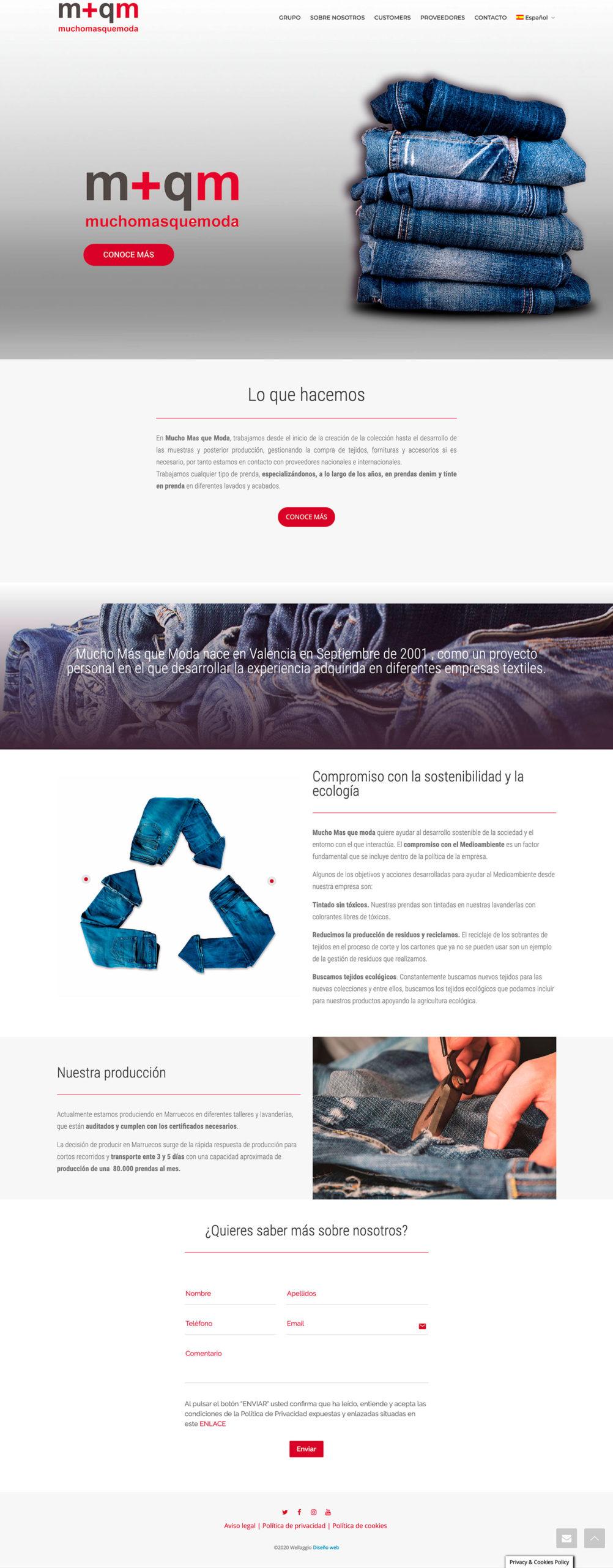 Diseño web Valencia | Diseño página web Mucho Más que Moda