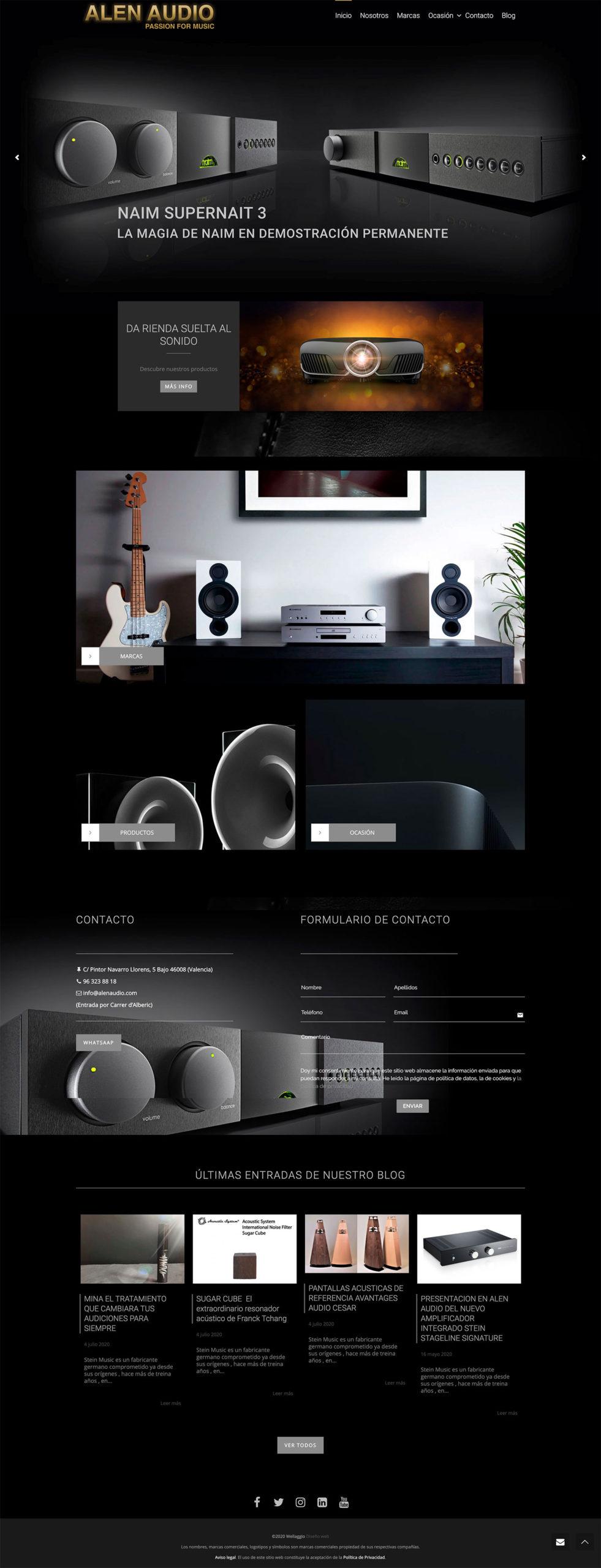 Diseño web Valencia | Página web Alen Audio