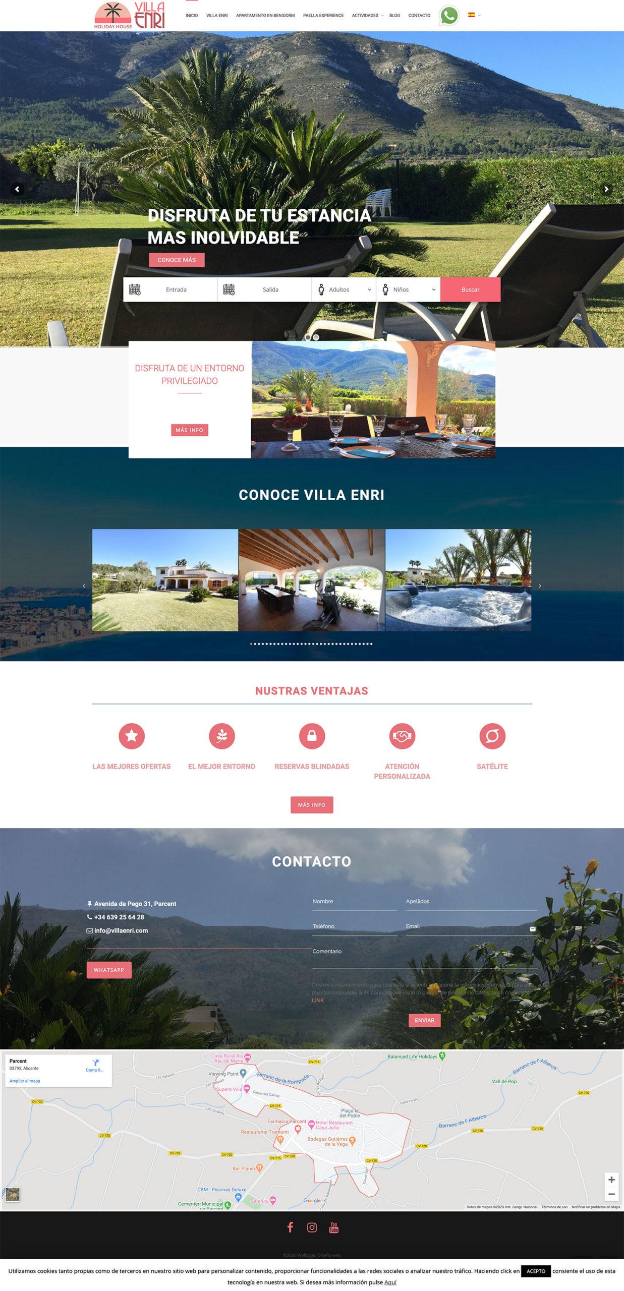 Diseño web Wellaggio | Villa Enri