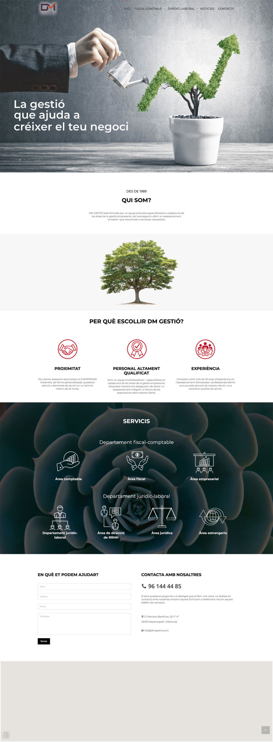 Diseño web Wellaggio | DM Gestó