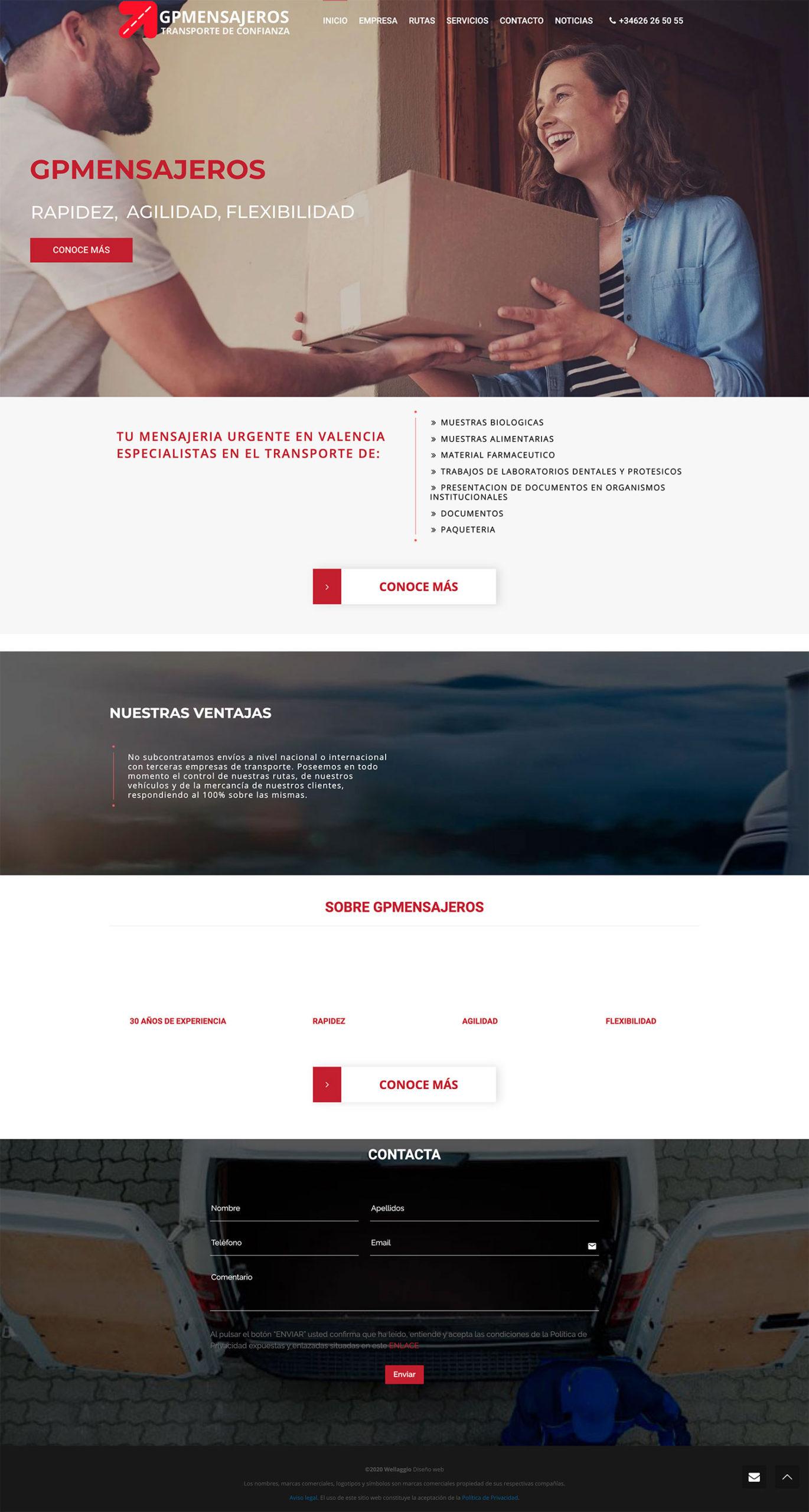 GP Mensajería   Wellaggio diseño web