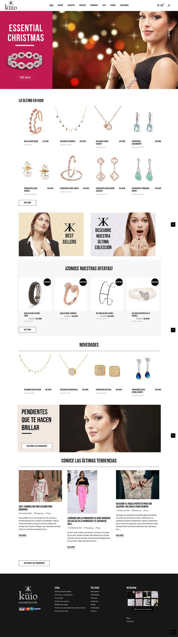 Wellaggio diseño web   Diseño web e-commerce Kuio